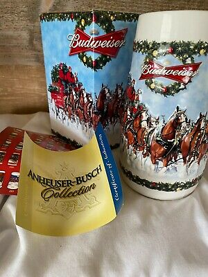$ CDN67.97 • Buy Budweiser Holiday Beer Stein 2009 A Holiday Tradition CS699 Collectible