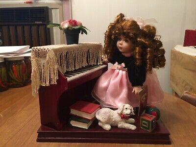 $ CDN14.98 • Buy Collectible Memories Porcelain Doll  Sky - With Piano