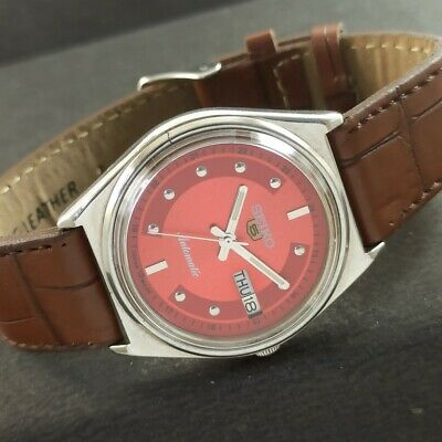 $ CDN8.11 • Buy OLD VINTAGE SEIKO 5 AUTOMATIC JAPAN MENS DAY/DATE WATCH 457d-a229244-1