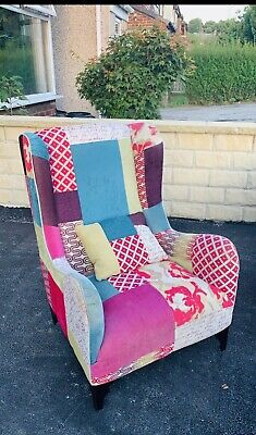 £375 • Buy Dfs Shout Patchwork Wing Back Armchair