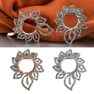 £4.99 • Buy 2Pcs Fashion Crystal Scarf Clip Ring Brooch Pin Party Buckle Corsage Jewelry