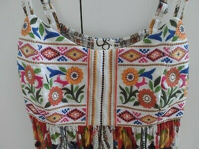 $ CDN68.02 • Buy Anthropologie One September Stunning Strappy Floaty Embroidered Cami Top Nwots