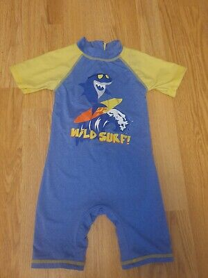 £3.50 • Buy Boys Shark All In One Swim Suit 18-23months Matalan Immaculate Beach Pool Hols