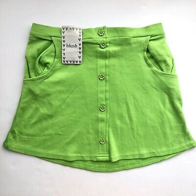 £10 • Buy Y2k Lime Green Skirt - Size Small / 6 8 / Vintage 90s Mini