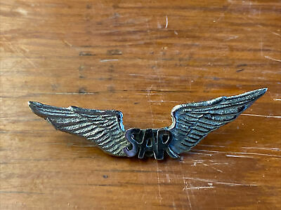 $14.99 • Buy Vintage Military Pin Silver Wings With Sar.