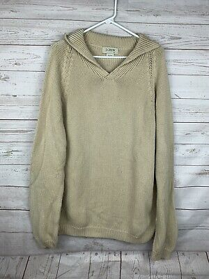 $26.99 • Buy J Crew Cowl Neck Knit Sweater  Pullover Shawl Mens Size XL Tan