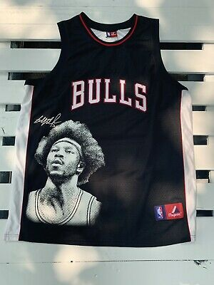 $20 • Buy Vintage Majestic BEN WALLACE CHICAGO BULLS NBA Photo Face Large JERSEY
