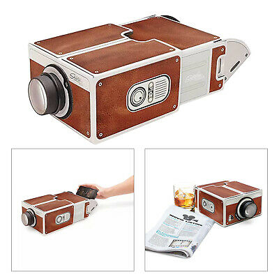 £9.51 • Buy Smartphone Projector Portable DIY Home Cinema TV Screen For IPhone/Android