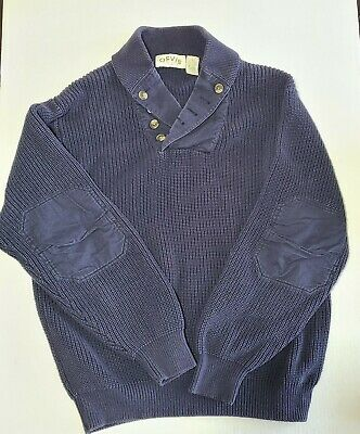 $59.99 • Buy Orvis Military Button Shawl Sweater Reinforced Elbows Men's Size Large