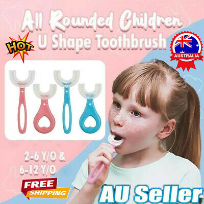 AU6.66 • Buy Baby Toothbrush U-shaped Silicone Brush Head Cleaning Teeth For Kids 2-12 Year Z