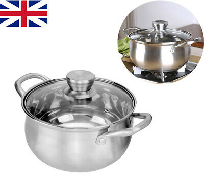£16.62 • Buy Stainless Steel Stock Soup Pot Cooking Stew Catering Casserole Pan With Lid
