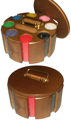 £32.01 • Buy Revolving Wooden Carousel With 200 Casino Clay Chips. FREE P&P *parts Of UK