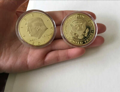 AU2.79 • Buy 1* 2017 US DONALD TRUMP Inauguration Gold Plated Coin The President Of USA