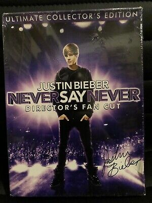 £13.09 • Buy Justin Bieber Never Say Never: DVD DIRECTOR'S FAN CUT - WITH PIN & NECKLACE, NEW
