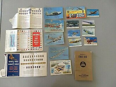 $5.99 • Buy Collectible Military Mixed Lot: Aviation, Civil Defense, Post Cards & First Aid