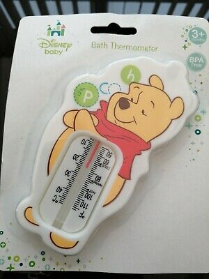 £4 • Buy Official Disney Baby Winnie The Pooh Baby Bath Thermometer New White