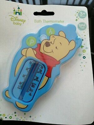 £4 • Buy Official Disney Baby Winnie The Pooh Baby Bath Thermometer New Blue