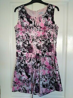 £30 • Buy Olivia Rubin Play Suit Pink And Black Size UK 12