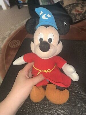 £8 • Buy Disney Mickey Mouse Fantasia Plush Soft Toy Bean Bag Collectable Sorcerer