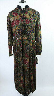 £20.40 • Buy Vintage Jessica Howard 80s Long Sleeve Floral Tea Evening Occasion Maxi Dress 16