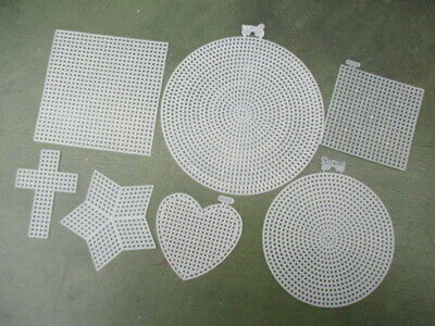 £3.50 • Buy Plastic Canvas Shapes 7 Count Circle, Square, Star, Heart, Cross - Choose Amount