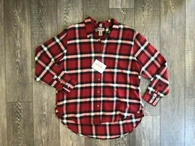 $17.80 • Buy NWT Wrangler Red Flannel Long Sleeve Shirt Mens Large