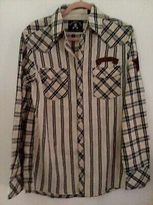 $0.99 • Buy Rock Roll And Soul Pearl  Snap Western Type Med Flannel Type New W Tags!