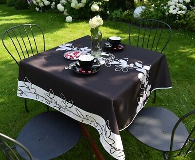 £14.82 • Buy Tablecloth Provence 120x120 CM Black From France Easy-Care And Non-Iron