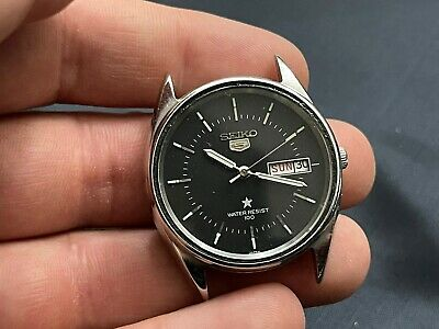 £25 • Buy Vintage Seiko 5 Black Dial Automatic 37mm Gents Watch