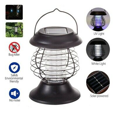 £9 • Buy Solar Powered Outdoor Mosquito Fly Bug Insect Lamp Zapper Killer Light Garden