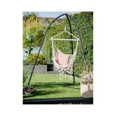 £89.99 • Buy Portable Garden Patio Hanging Rope Hammock Bed Cotton Swing Chair Frame Stand UK