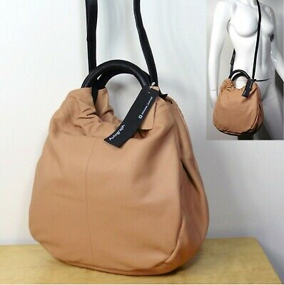 £39.99 • Buy M&S AUTOGRAPH Real LEATHER Ring Handle TOTE BAG With Shoulder Strap ~ NUDE PINK