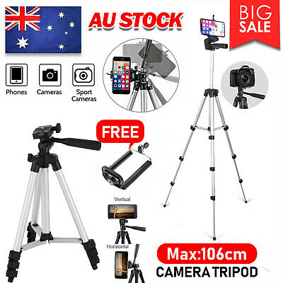 AU10.99 • Buy Professional Camera Tripod Stand Mount + Phone Holder For Phone IPhone Samsung