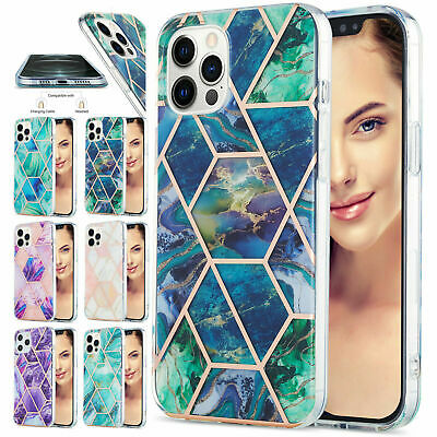 AU11.99 • Buy For IPhone 12 MINI 11 Pro Max XS XR 8 7+  Marble TPU Shockproof Soft Cover Case