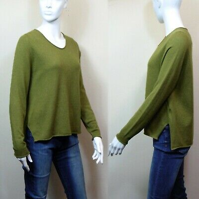 £22.99 • Buy M&S AUTOGRAPH Merino WOOL & CASHMERE V-Neck JUMPER ~ Size 10 ~ MOSS GREEN