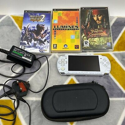 £75 • Buy Sony PSP 3003 With 1GB Memory Stick White Plus 3 Games