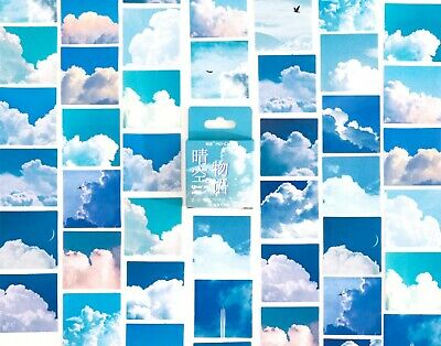 £2.59 • Buy SKY & CLOUD STICKERS Scrapbook Journal Diary Card Stationery Craft Decoration