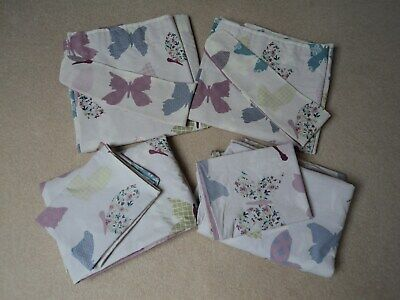 £20 • Buy Girls Single Butterfly Duvet Covers X2 And Matching Curtains 66x54