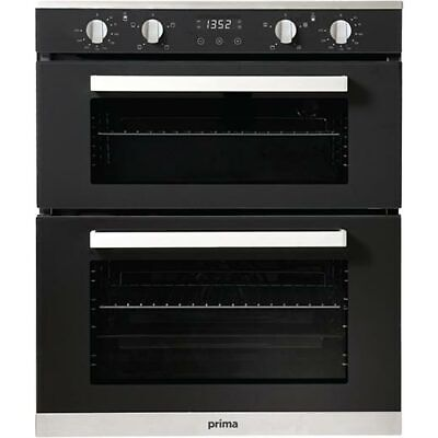 £239.99 • Buy New Prima+ PRDO304 Built Under Double Electric Oven - Black S/Steel - COLLECTION