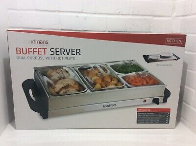 £35 • Buy Goodmans Buffet Server, Dual Purpose With Hot Plate New