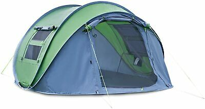 £74.99 • Buy 4 Person Man Family Tent 3 Seconds Instant Pop Up Tent Breathable Camping Hiking
