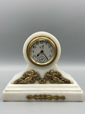 £85 • Buy French White Marble And Ormolu Mantle Clock Bayard