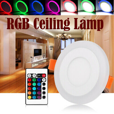 £4.99 • Buy White RGB Dual Color Light LED Ceiling Recessed Panel Downlight Spot Lamp SALE
