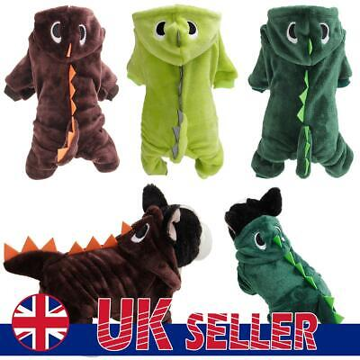 £8.59 • Buy Dinosaur Costume Pet Dog Halloween Clothes Christmas Winter Chihuahua Outfit