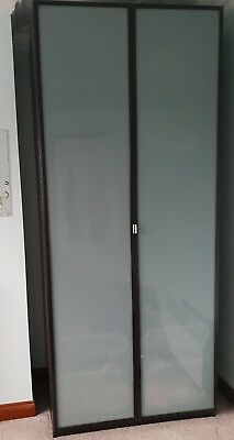 £175 • Buy IKEA Malm Wardrobe Frosted Doors & Matching Bedside Tables X2-dark Brown/black
