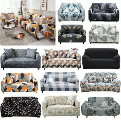 AU18.99 • Buy Sofa Covers 1/2/3/4 Seater High Stretch Lounge Slipcover Protector Couch Cover