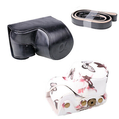 AU15.55 • Buy PU Leather Camera Case Bag Full Pouch Bag Cover For Sony A6000 A6300 Black/White