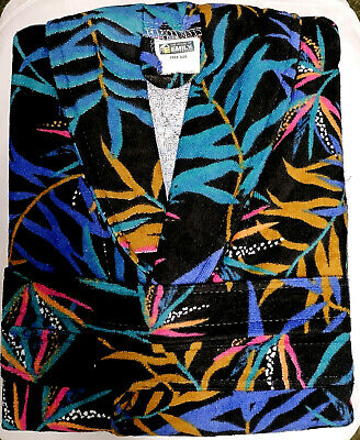 £16.50 • Buy Jungle Design Printed Velour Dressing Gown Bathrobe 100% Cotton Free Size Adults