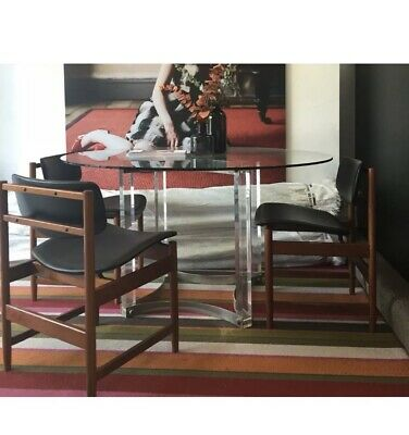£1080 • Buy Mid Century Modernist Lucite Dining Table By Alessandro Albrizzi Vintage
