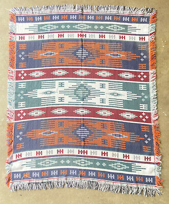 £23.28 • Buy SOUTHWEST AZTEC TAPESTRY BLANKET MEXICAN DESIGN COTTON THROW AFGHAN 46x56
